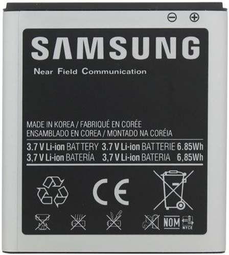 Samsung EB-L1D7IBA Original OEM Battery i547 i727 T989 SPH-L700 - Non-Retail Packaging - Black (Color: Silver)