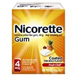 Nicorette Stop Smoking Aid, 4 mg, Gum, Fruit Chill 160 pieces