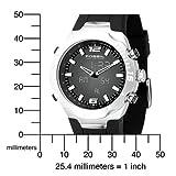 Fossil Men's BQ9353 Black Polyurethane Strap Black Analog-Digital Dial Watch