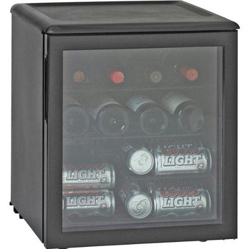 New Haier 17-Bottle/42-Can Single-Zone Beverage Cooler 2 Full-Width Black Vinyl Coated Wire Shelves