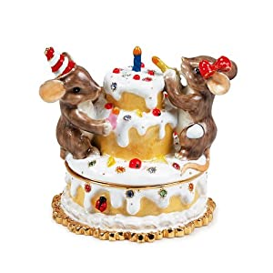 Charming Tales Mice and Birthday cake Figurine 2.25""