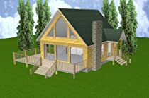 24' x 28' Cabin w/Loft & Basement Plans