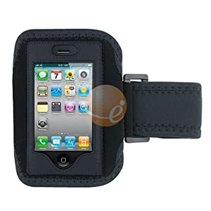 Eforcity Sport Armband Case Cover for iPhone 3G (Black)