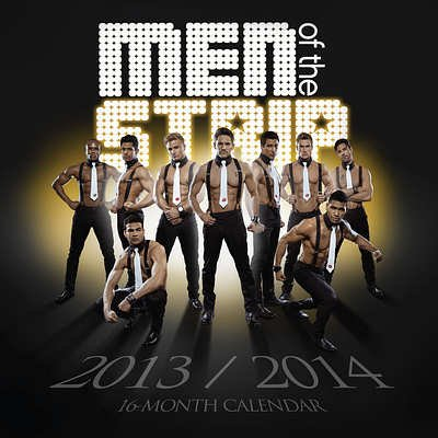 (12x12) Men of the Strip - 2014 Calendar