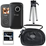Coby SNAPP Mini Digital Camcorder, 8GB SDHC Card, Case and Mini Tripod