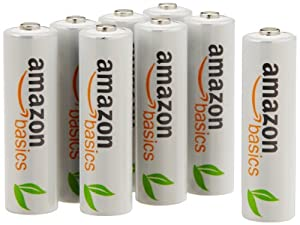 AmazonBasics AA Rechargeable Batteries (8-Pack) Pre-charged - Packaging May Vary