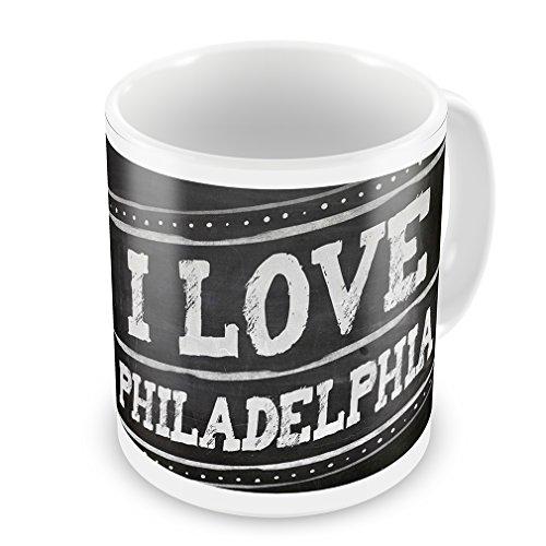 Coffee Mug Chalkboard With I Love Philadelphia - Neonblond