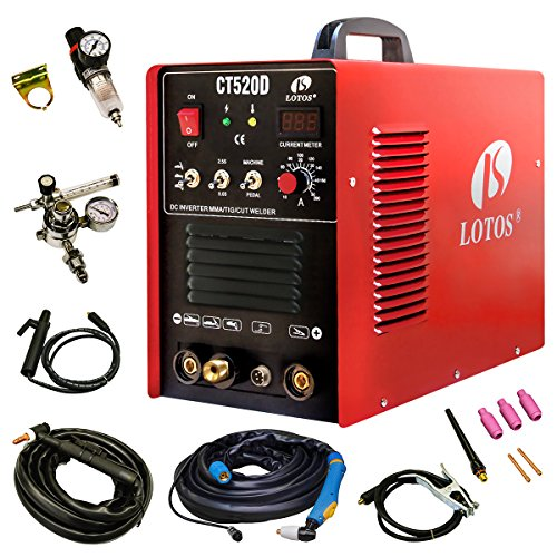 Lotos-CT520D-Plasma-Cutter-Tig-Stick-Welder-3-in-1-Combo-Welding-Machine-50Amp-Air-Plasma-Cutter-200A-TIG-Stick-Welder-Dual-Voltage-220V110V