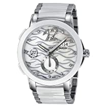 Ulysse Nardin Executive Dual Time Diamond Mother of Pearl Ceramic Ladies Watch 243-10-7-691
