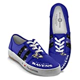 NFL Baltimore Ravens Canvas Women's Shoes: I Love The Ravens by The Bradford Exchange: 9.5 M US women at Amazon.com