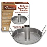 Beer Can Roaster - Stainless Steel Chicken Beeroaster Deluxe with Recipe Guide - Cooks Meat and Vegetables at same time