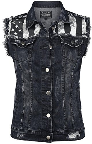 Rock Rebel by EMP Jeans Waistcoat Gilet donna nero S