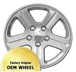 JEEP COMMANDER 17X7.5 5 SPOKE Factory Oem Wheel Rim- MACHINED FACE SILVER – Remanufactured
