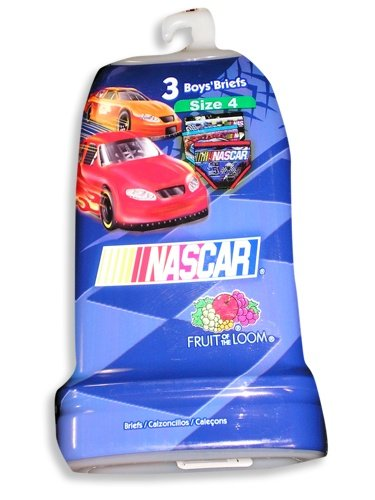 Buy Nascar by Fruit of the Loom – Boys 3 Pack Briefs, Blue, Red, Multi