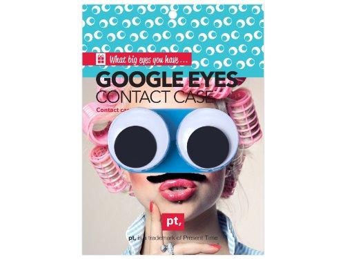 Kontaktlinsenbehälter GOOGLE EYES blue