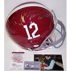 Joe Namath Autographed Hand Signed Alabama Crimson Tide Authentic Helmet - JSA -...