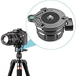 Neewer® Tripod Leveling Base with Offset Bubble Level for Canon,Nikon,and Other DSLR Cameras with 1/4