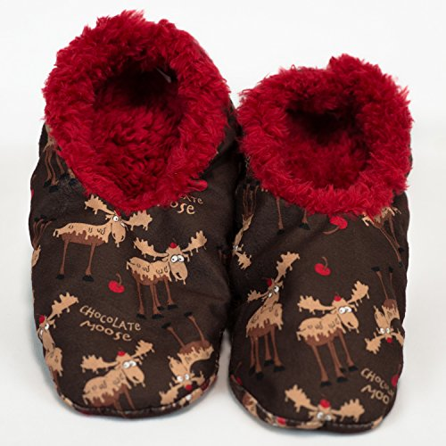 Chocolate Moose-Moose Fuzzy Feet Slippers by Lazy One (Lazy One Fuzzy Feet compare prices)