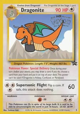 Pokemon - Dragonite (5) - Wizards Black Star Promos - 1