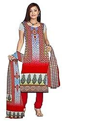 BalajiWomen's Crepe Unstitched dress material(208-multicolor-free size)