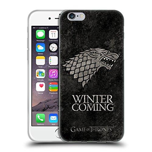 Ufficiale HBO Game Of Thrones Stark Sigilli Scuri Cover Morbida In Gel Per Apple iPhone 6 / 6s