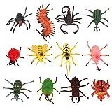 【ノーブランド品】いたずら トリック用 おもちゃ 昆虫セット 12個