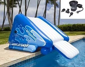 Intex Kool Splash Inflatable Swimming Pool Water Slide Quick Fill Air Pump Toys