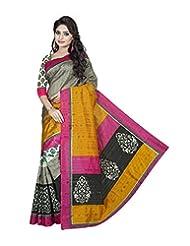 Pick Attire Women's Bhagalpuri Art Silk Saree,With Blouse (PS51-VBK118_Multi)