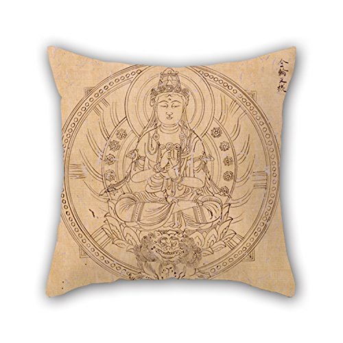Slimmingpiggy Throw Pillow Case Of Oil Painting Shinkaku - BUDDHIST DIVINITIES IN TWO VOLUMES 20 X 20 Inches / 50 By 50 Cm,best Fit For Teens Girls,teens,pub,home,coffee House,girls Double Sides (Paul Jr Designs Seat Covers compare prices)