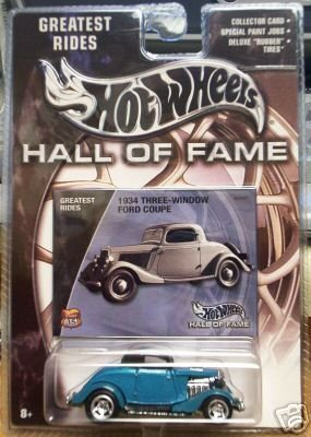 Mattel Hot Wheels 2002 Hall Of Fame Greatest Rides 1:64 Scale 35th Anniversary Blue 1959 Cadillac Die Cast Car