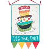 Glory Haus It-Feets Your Day Canvas Banner, 29 x 21-Inch
