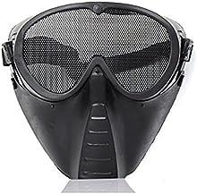 Airsoft Tactical Armour Máscara para la cara regulable para Airsoft y Paintball (diseño de malla de acero BB Gun Full Face Eyes Nose Wear Protector Protector De Seguridad De Malla Máscara Airsoft