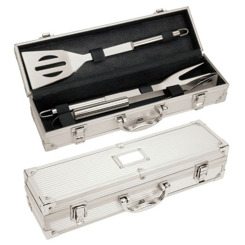 Best Prices! Stainless Steel Gourmet Barbecue Tool Set with Aluminum BBQ Carrying Case