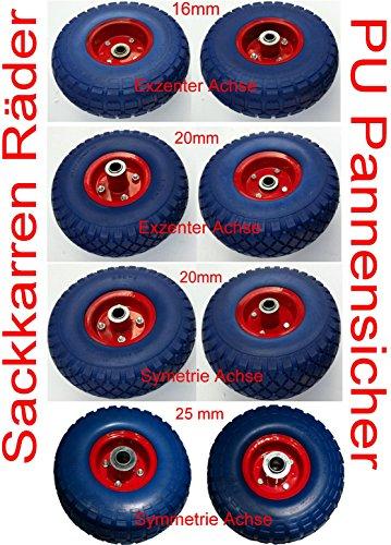 Rad 4 Sackkarrenräder Bollerwagenrad Luftrad Räder 260 mm Kugellager