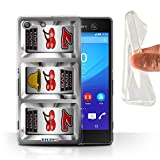 STUFF4 Gel TPU Phone Case Cover for Sony Xperia M5 Cherries Design Slot Machine Collection