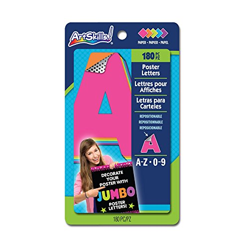 artskills jumbo poster letters and numbers az and 09