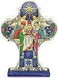 Enesco Jim Shore For Enesco Heartwood Creek Nativity Cross Plaque 9-Inch