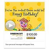 Amazon Gift Card - Email - Coolest Birthday Girl (Animated) [Hallmark]