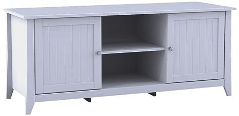 Nexera 202103 Vice Versa TV Stand, 58-Inch, White