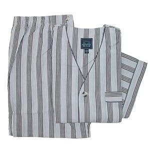 Majestic International Mens Cotton Shorts Pajama Set, 2XL, Granite Grey