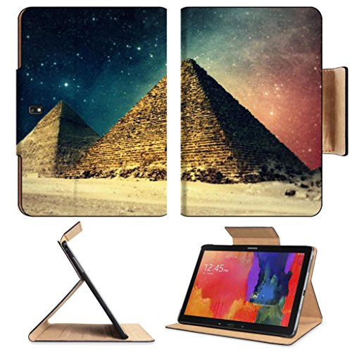 Egypt Pyramids Artisitic Night Sky Samsung Note Pro 12.2 Flip Case Stand Smart Magnetic Cover Open Ports Customized Made To Order Support Ready Premium Deluxe Pu Leather Luxlady Professional Graphic Background Covers Designed Model Folio Sleeve Hd Templat front-218350