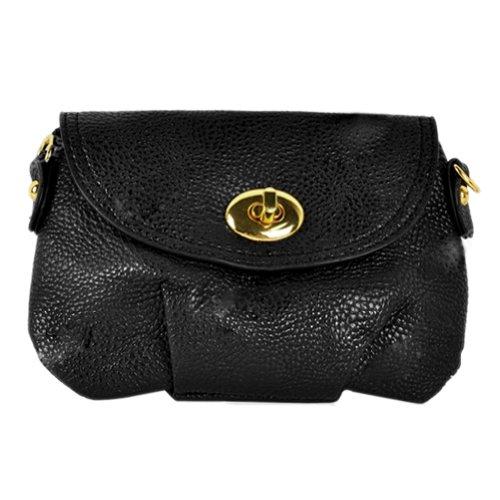 Hotportgift Women's Handbag Satchel Messenger Cross Body Purse Totes Bags (black)