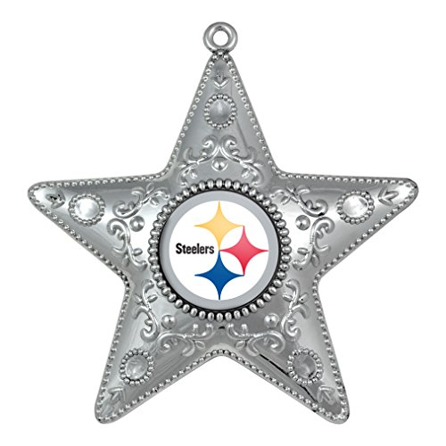 Steelers Silver Star Christmas Ornament