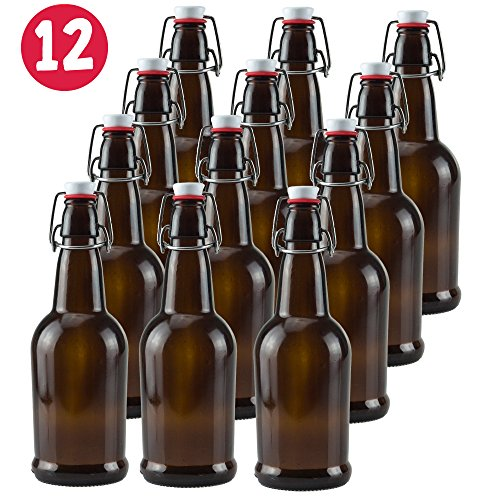 16-oz-amber-glass-beer-bottles-for-home-brewing-12-pack-with-flip-caps
