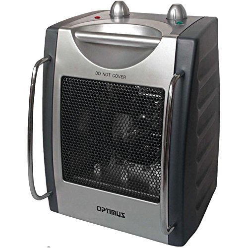 Optimus Portable Electric Space Heater W Durable Heavy Gauge Sheet Metal Cabinet