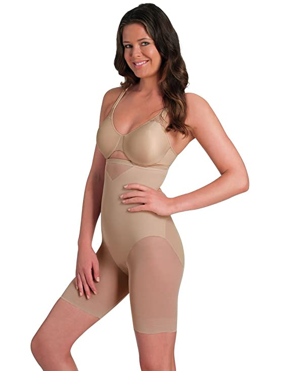 Miraclesuit Shapewear Sexy Sheer Nude Hi-Waist Thigh Slimmer