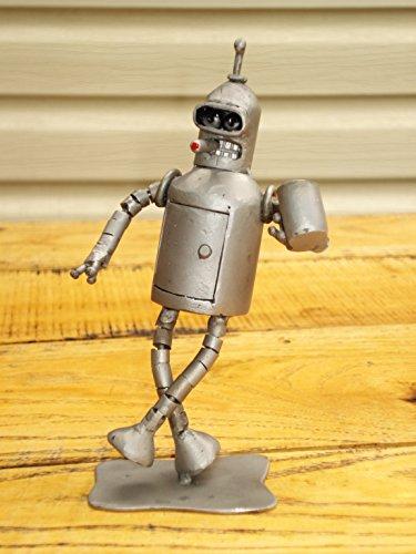 [Bender Futurama, Bender Costume, Bender Hat Pin, Welded Metal Sculpture Art, Matt Groening, Robot Sculpture, Futuristic] (Futurama Leela Costumes)