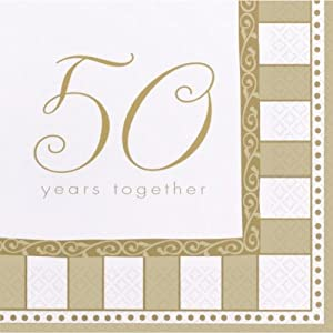 16 servietten 50 years together goldene hochzeit spielzeug. Black Bedroom Furniture Sets. Home Design Ideas
