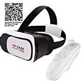 3D VR Virtual Reality headset Glasses with Remote Control for 3.5 to 6 inches smartphones Iphone 6s 6 Plus Samsune Galaxy series