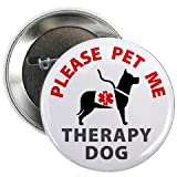 PLEASE PET ME THERAPY DOG Alert 2.25 Pinback Button Badge